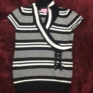 Girls Short Sleeve Sweater